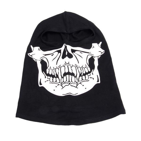 Balaklava Skull, mössa med öppning för ögonen, Svart