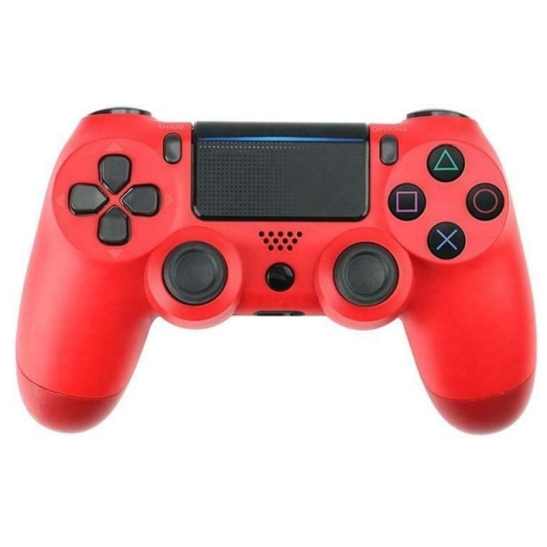 Bluetooth trådlös handkontroll till PS4, Röd
