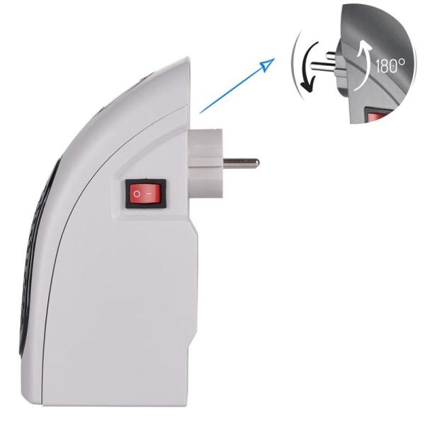 Camry kompakt värmefläkt för vägguttag, 700 W, LED-display