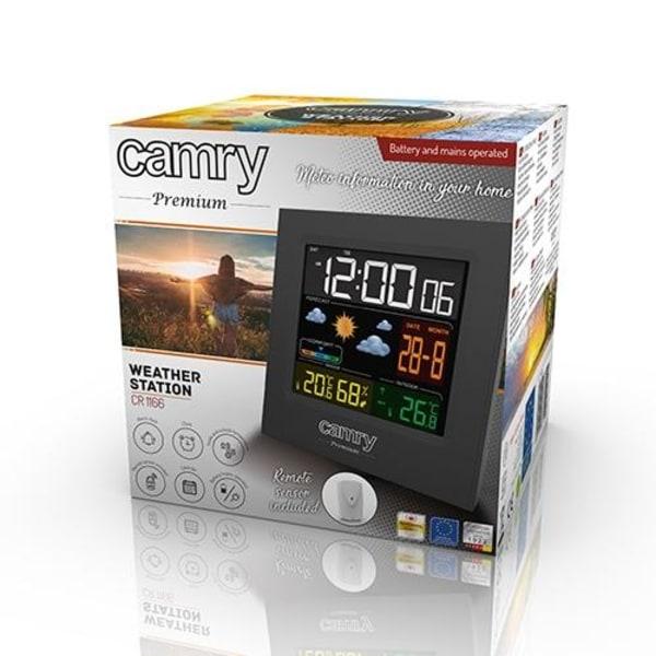 Camry Premium väderstation med färgdisplay