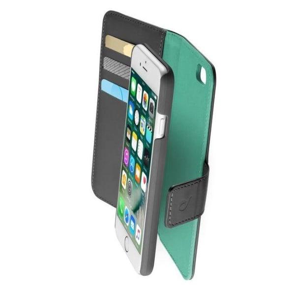 Cellularline Combo väska iPhone 6/6S, Svart/Grön