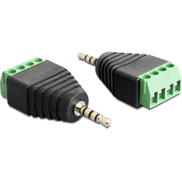 DeLOCK adapter, 2,5mm stereo ha till 4-pin terminalblock