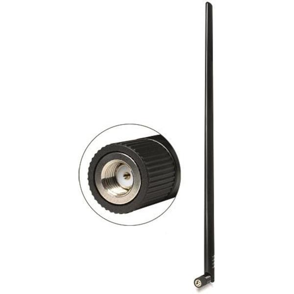 DeLOCK WLAN Antenn RP-SMA ha, 9dBi, 2,4GHz, rundstrål, 50 Ohm, s