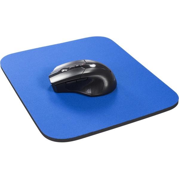 DELTACO musmatta, tygbeklädd gummi, 6mm blå (KB-1B)