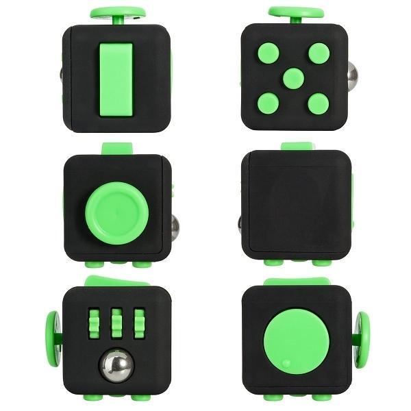 Fidget Cube, Svart/Grön