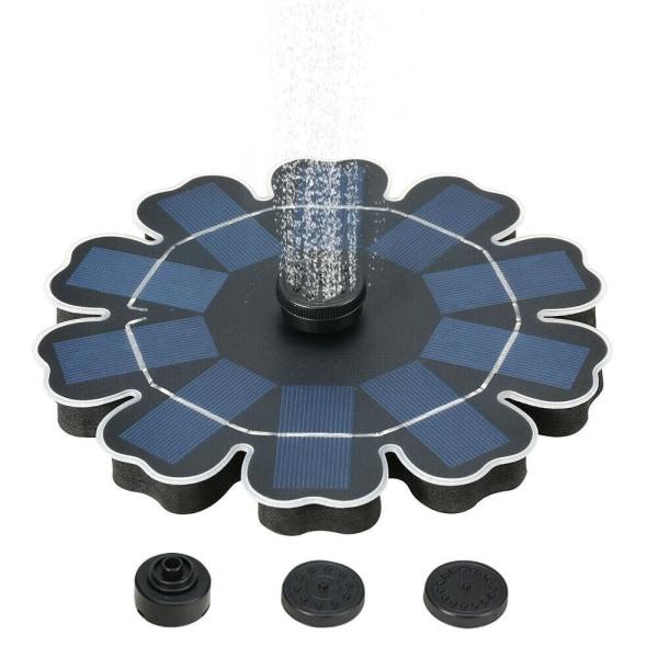 Flytande fontän som drivs av solceller