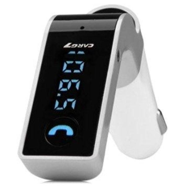 FM-sändare med Bluetooth-handsfree (Silver)