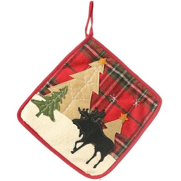 Grytlapp med dekorativt julmotiv