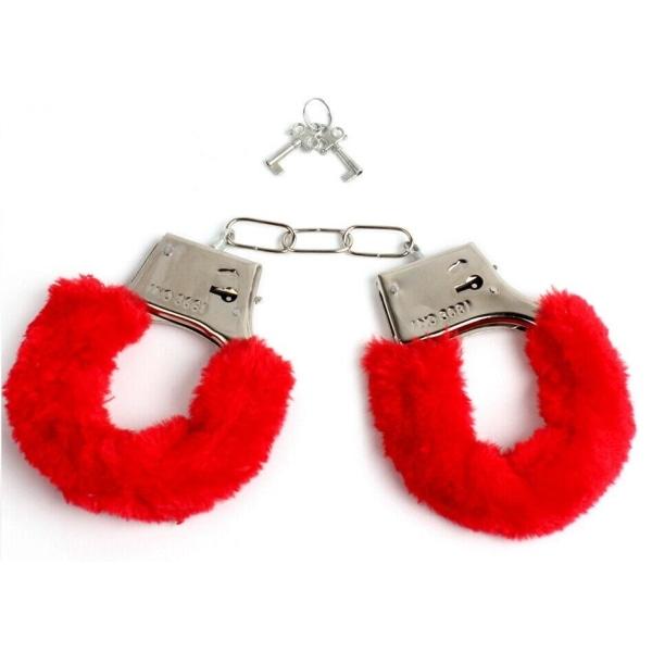 Handbojor med fluff, Röd