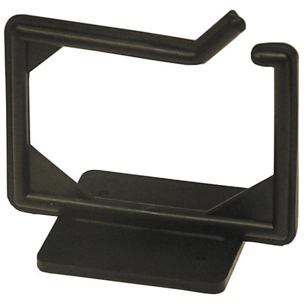 Kabelhängare, skruvmontering, 100x63x75mm, plast, svart