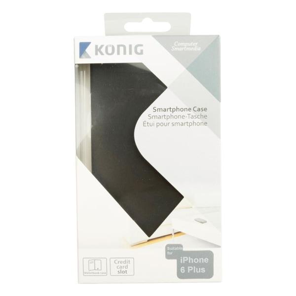 König Plånboksfodral iPhone 6 Plus svart (CSWBIPH655BL)