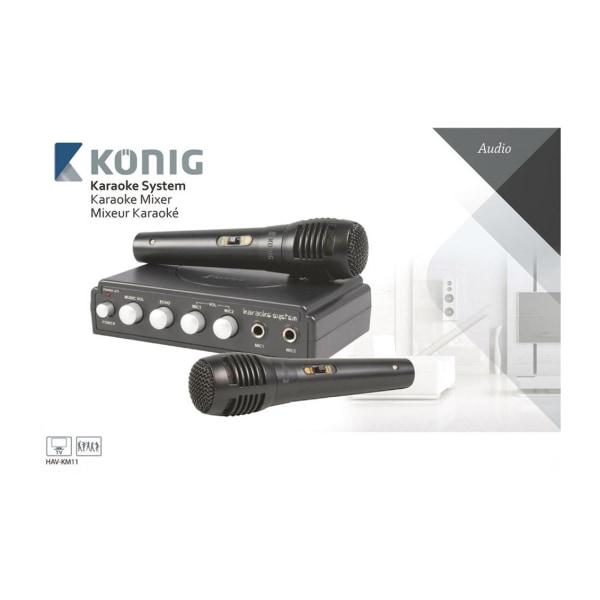 König Svart karaoke-mixer (HAV-KM11)