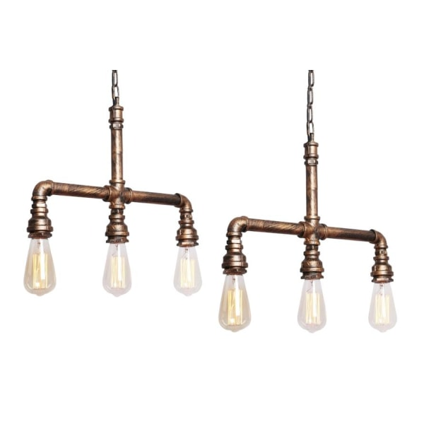 Lampa med vattenrör-design 2-pack