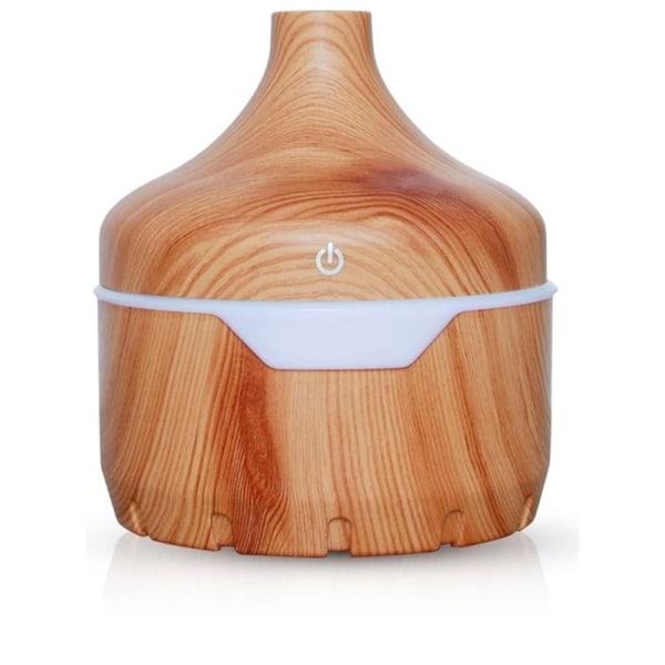 Luftfuktare/Aroma Diffuser i trädesign 300ml, Ljust trä