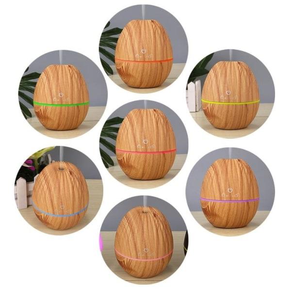Luftfuktare/Aroma Diffuser i trädesign, Ljust trä