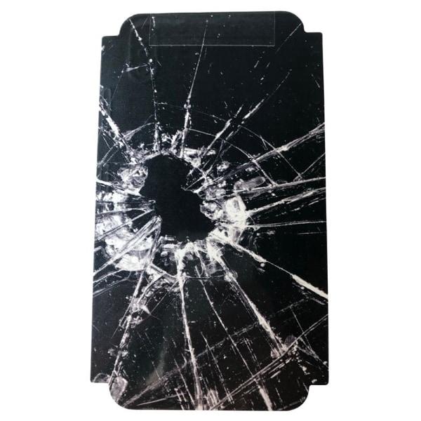 Skin för Iphone X/XS Krossat glas - Svart
