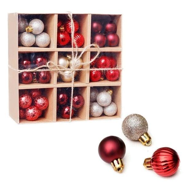 Små julgranskulor 99st, Röd/Guld/Silver