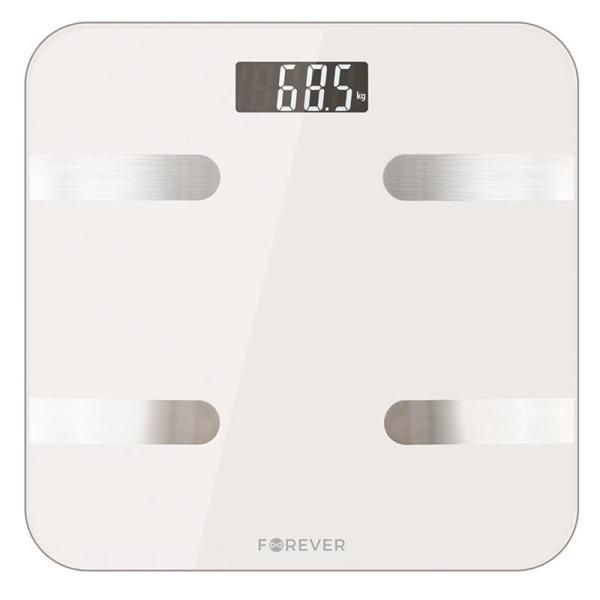 Smart personvåg med Bluetooth, Forever Smart Scale AS-100, vit