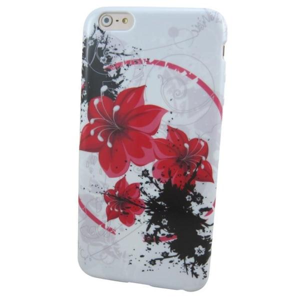 TPU-skal med motiv, till iPhone 6 Plus (Blommor)