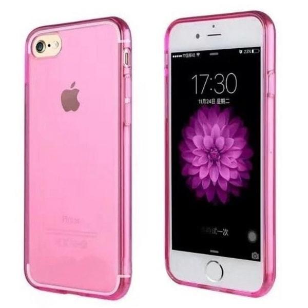 Transparent TPU-skal till iPhone 7 Plus/ iPhone 8 Plus, Rosa