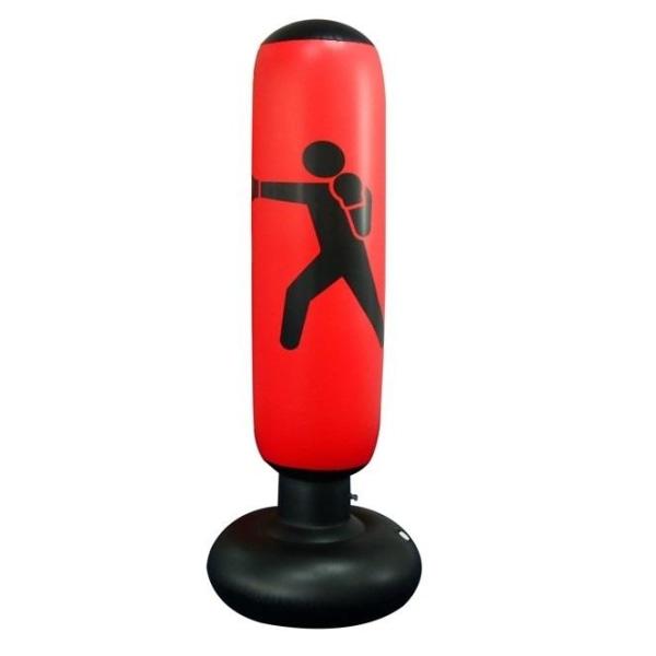 Uppblåsbar Boxningssäck, perfekt för hemmaträning, Röd