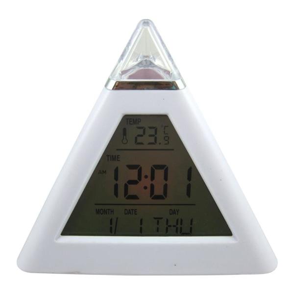 Väckarklocka pyramid (glowing LED)