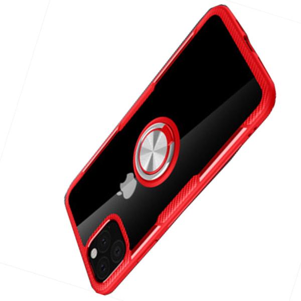 Smart Slittåligt Skal med Ringhållare - iPhone 11 Pro Max Marinblå