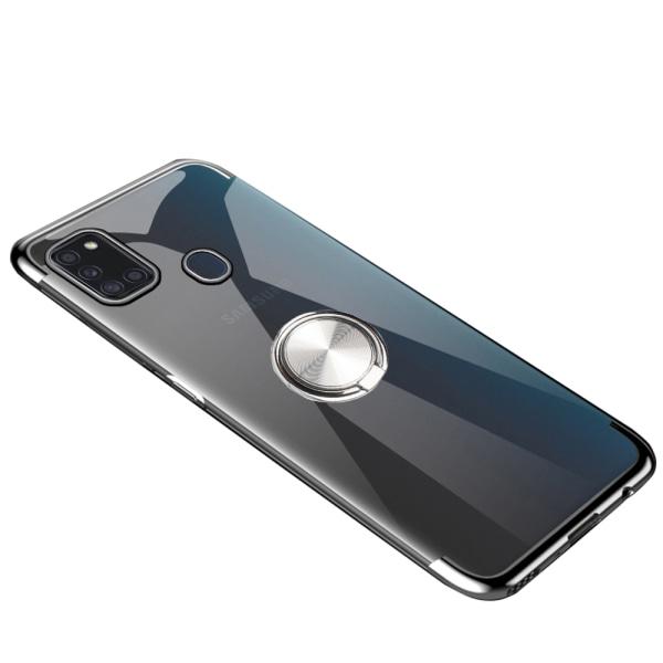 Skal med Ringhållare - Samsung Galaxy A21S Roséguld