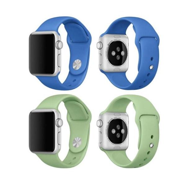 Apple Watch 38mm -  NORTH EDGE Stilrena Silikonarmband Vit L