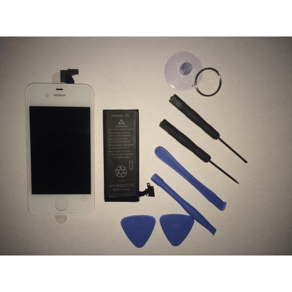 iPhone 4S LCD Display Skärm - Inkl Batteri/Verktyg (AAA+)