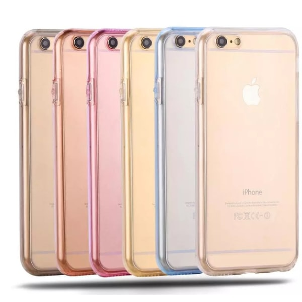 iPhone 6/6S Plus - Dubbelt Silikonfodral (TOUCHFUNKTION) Guld