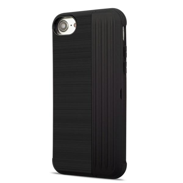 LEMAN Stilrent Skal med kortplats för iPhone 8 Svart