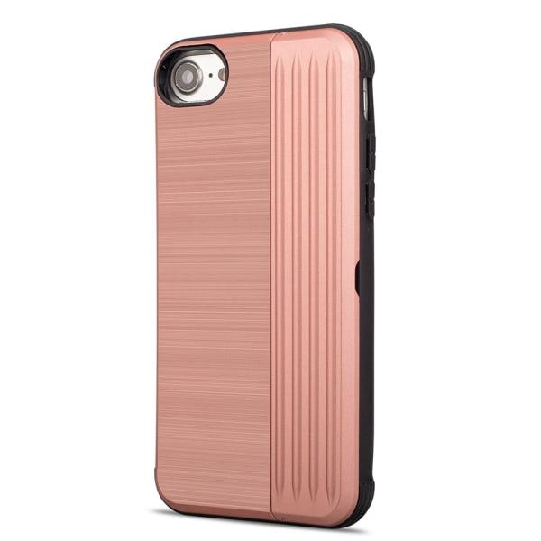 Skyddande Skal med kortförvaring till iPhone 8 (EXXO) Guld