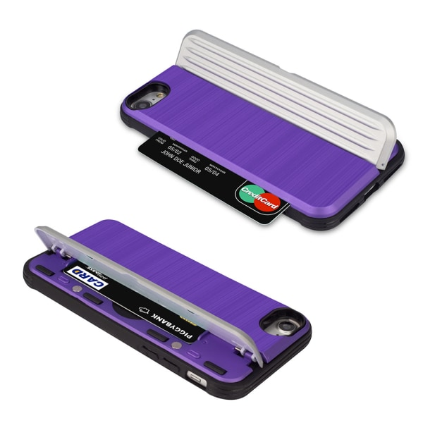 Skyddande Skal med kortförvaring till iPhone 8 (EXXO) Roséguld