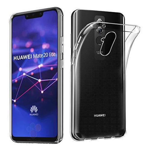 Silikonskal med Ruff Grip från FLOVEME - Huawei Mate 20 Lite Transparent/Genomskinlig
