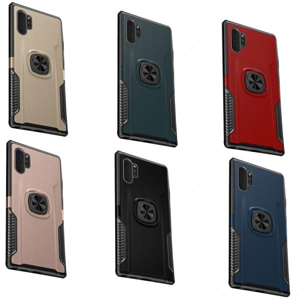 Smidigt Skal med Ringhållare (Leman) - Samsung Galaxy Note10+ Svart