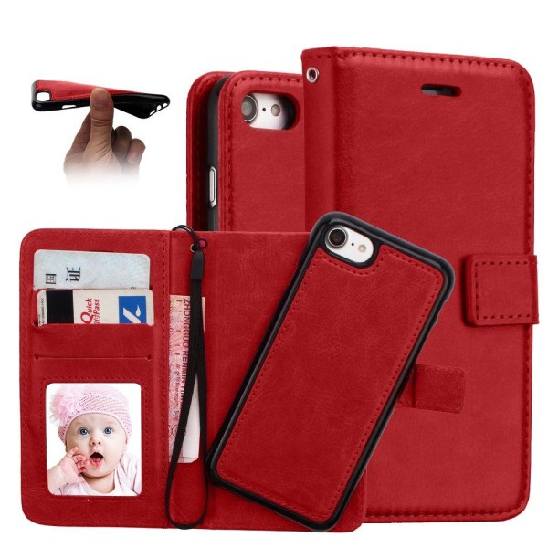 Plånboksfodral med Skalfunktion - iPhone 8 Vit