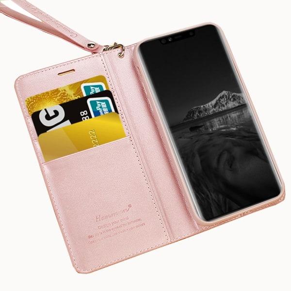 Exklusivt Praktiskt Plånboksfodral - Samsung Galaxy A7 2018 Rosaröd