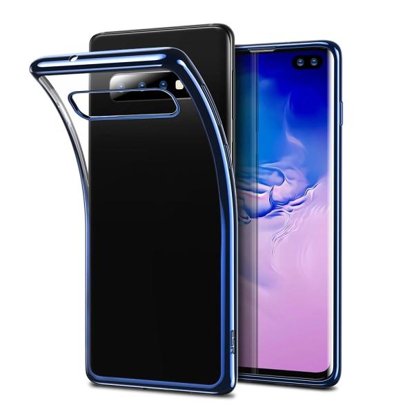 Elegant Skyddsskal till Samsung Galaxy S10 Plus (Electroplated) Blå