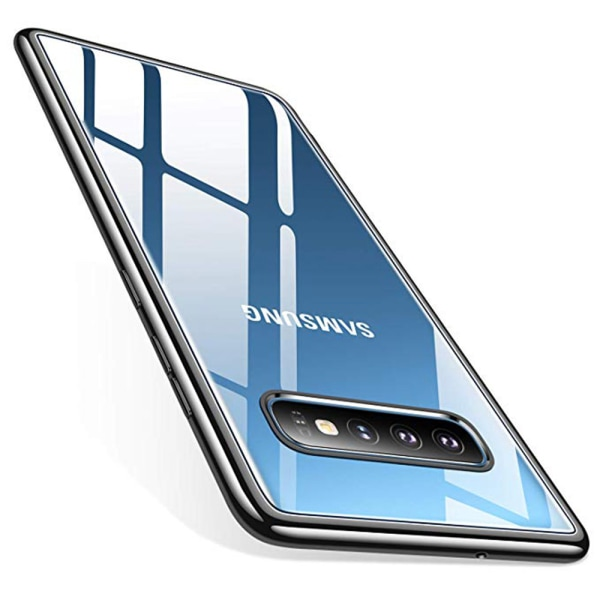 Elegant Skyddsskal till Samsung Galaxy S10 Plus (Electroplated) Guld