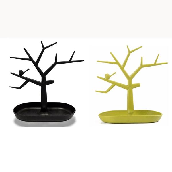 Elegant Smyckesträd i Olika Färger Svart