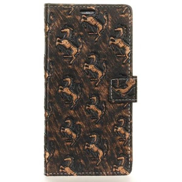 Elegant Mobilplånbok med Hästar (Samsung Galaxy S8) Brun