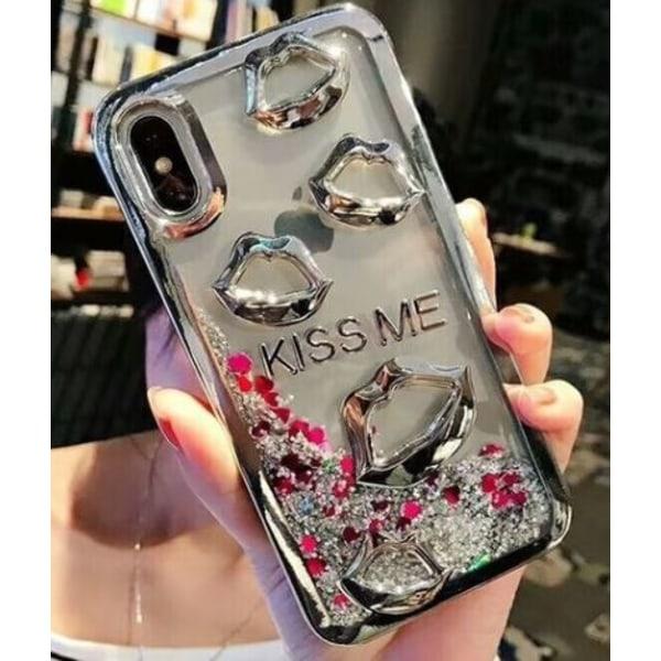 Elegant Skal för iPhone X med flytande sand Silver