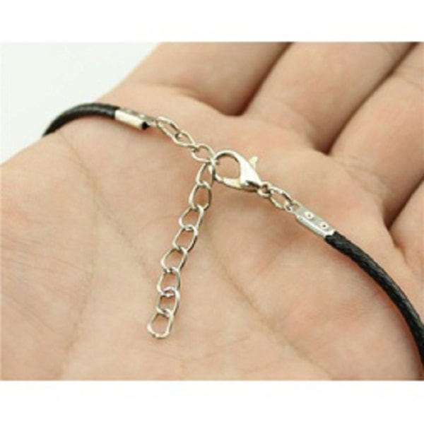 Halsband Ankh Egyptisk Symbol Kors Bronsfärgad metall Rem