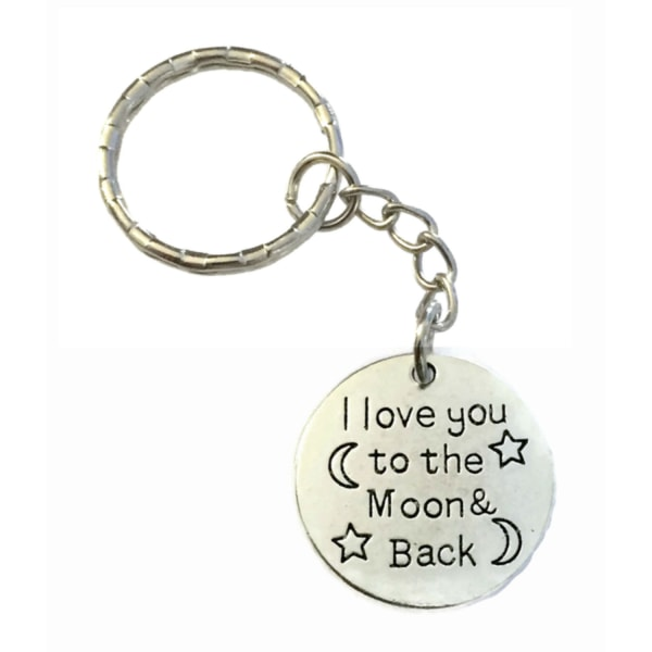 Nyckelring I Love You To The Moon.... Partner / Kompis Silver