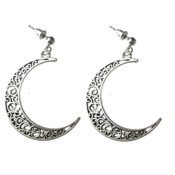 Örhängen Måne Stud Stift Crescent Moon Halvmåne Silver