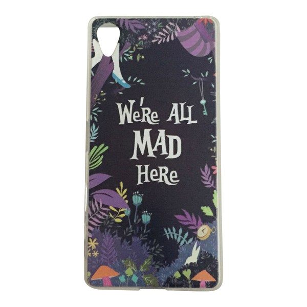 Sony Xperia X We´re all mad here - Alice I Underlandet Cheshire multifärg