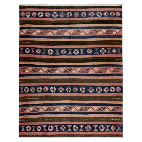 Handknuten Persisk Matta Hashtrud Kelim 145x185cm Röd