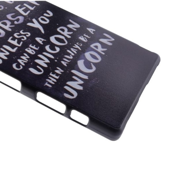 Hårt skal med enhörningstext - Xperia Z5 Compact