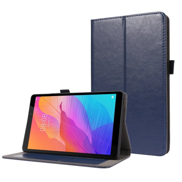 Crazy Horse Fodral för Huawei MatePad T8 - Blå